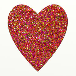 9421   multi glitter heart