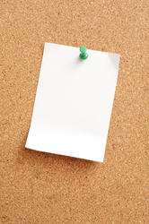 10818   White Blank Paper Pinned on Cork Note Board