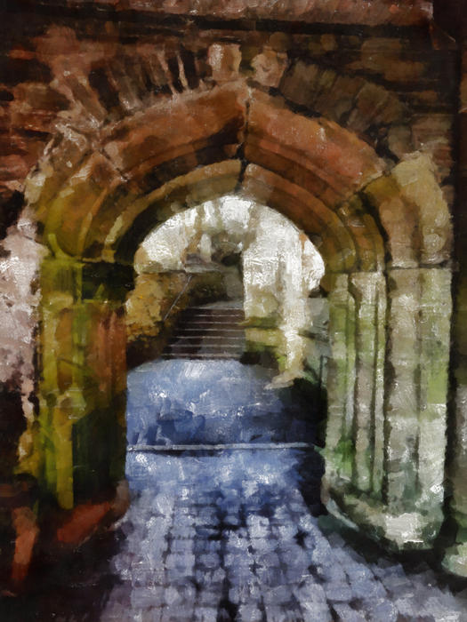 <p>Historical old church archway.</p>