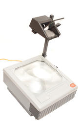 10824   Close up Overhead Projector Device on White