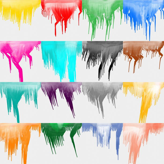 <p>Abstract paint drips set.</p>