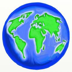 9278   painted globe