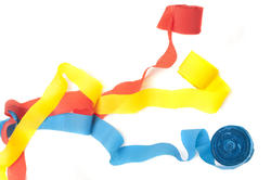 11475   Three colorful party streamers