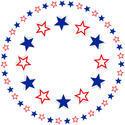 9351   patriotic stars round border