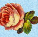 9103   pink rose painting