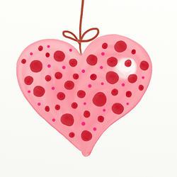 9353   polka heart