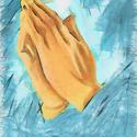 9598   praying hands pencil