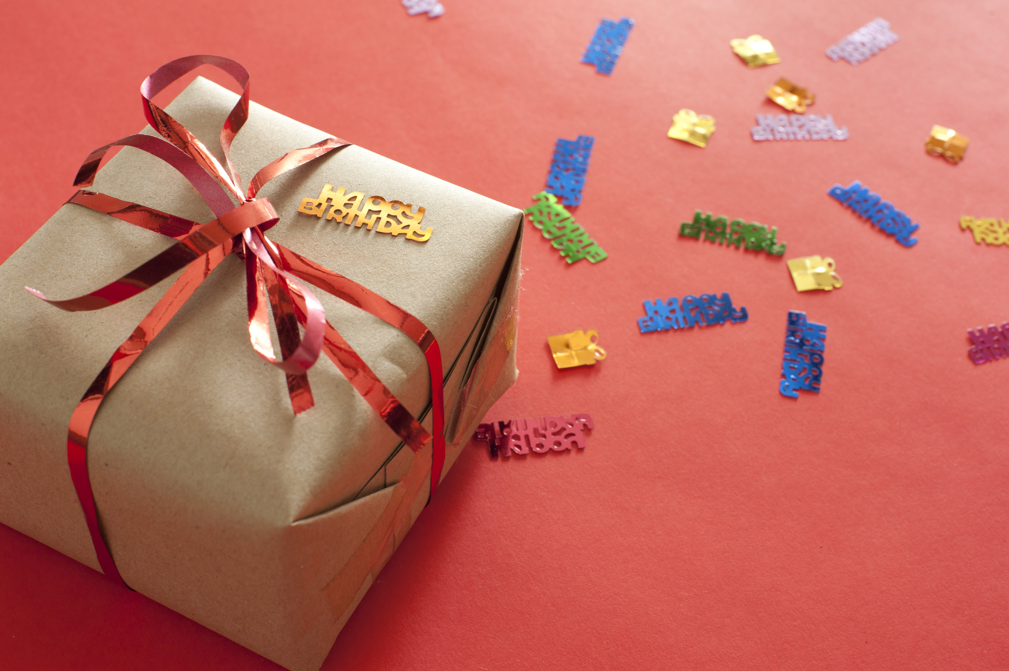Free Stock Photo 11476 Birthday gift with colorful ...