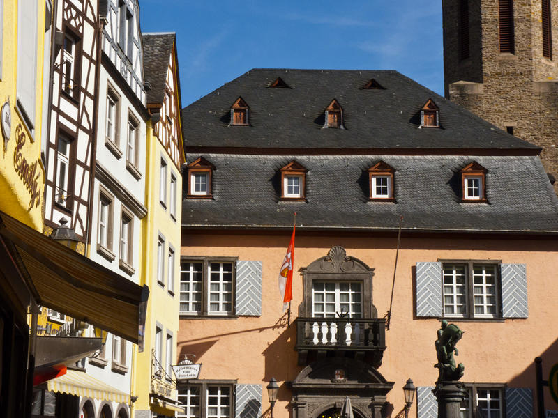 "<p>Rathaus-Cochem.jpg&nbsp;</p>This attractive building is the Rathaus ""Town Hall"" which sits in a small square at Cochem in the Mosel valley."