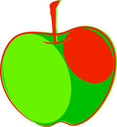 9120   red green apple