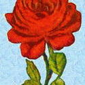 9104   red rose painting