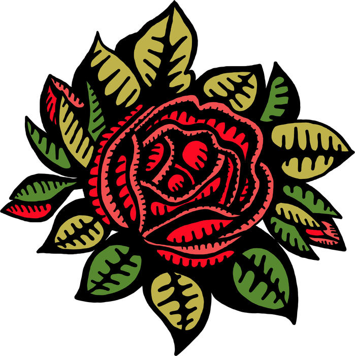 <p>Red rose drawing.</p>