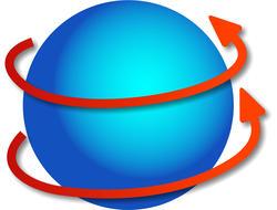 9279   revolving globe