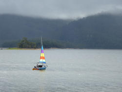 10997   Small sailboat cruising offshore