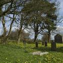 7811   Country village churchyard