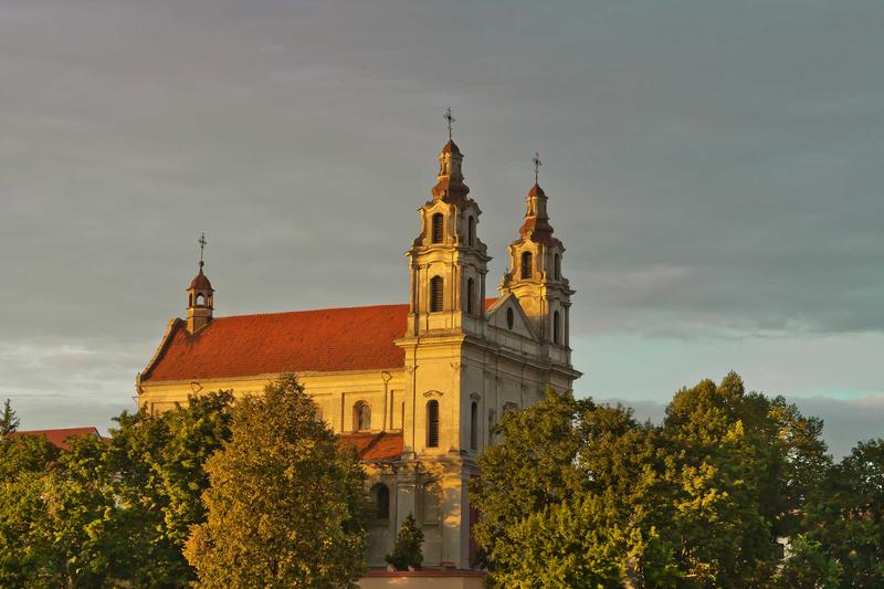 <p>St. Raphael the Archangel Church in Vilnius, Lithuania in late afternoon sunlight</p>