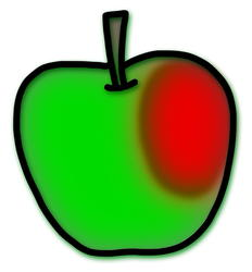 9648   stained glass apple