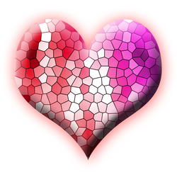 9432   stained glass heart