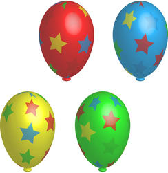 9355   star balloons
