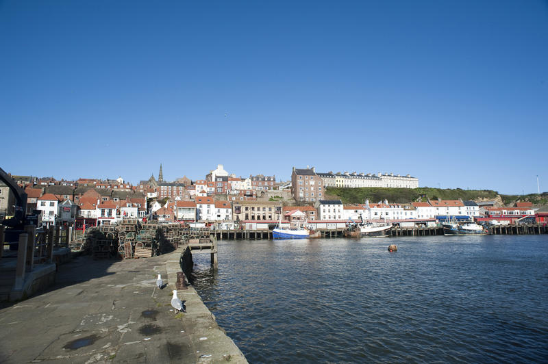 Historic town in Whitby, North Yorkshire on the north-east coast of England