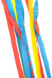 11481   Colored Party Streamers Against White Background
