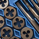 10795   Tap and die set in blue packaging