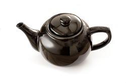 9968   Black ceramic glazed teapot