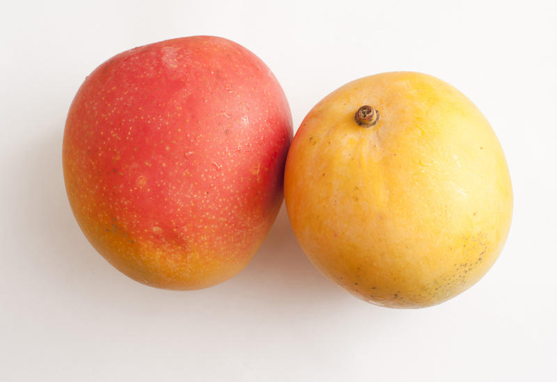 Delicious ripened mangoes on the beach 4