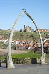 7835   Whale bone monument , Whitby