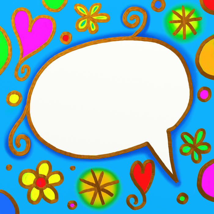 <p>Abstract whimsy word balloon.</p>