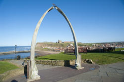 7866   Whale bone monument at Whitby