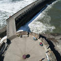 8096   Aerial view of the West Pier in Whitby