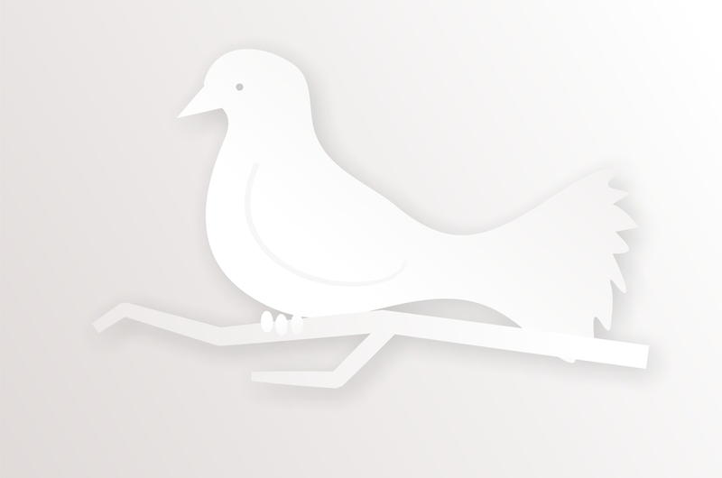 <p>Simple white dove illustration.<br />
