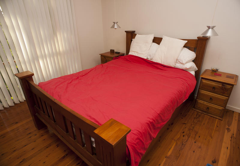 Free Stock Photo  Old Fashioned Wooden Bed