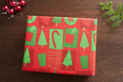 11695   Colorful gift wrapped Christmas present