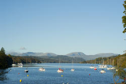 8768   Tranquil view of yachts on Windermere Lake