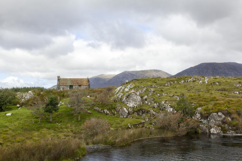 <p>An abandoned cottage in the Connemara mountains, County Galway, Ireland</p>