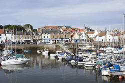 12884   Pleasure and fishing boats moored in Anstruther