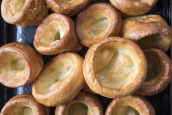 12987   Background texture of individual Yorkshire pudding