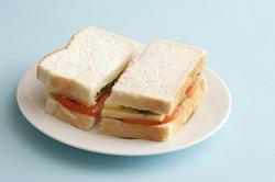 12741   Basic white bread sandwich