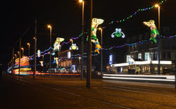 16792   Blackpool Illuminated Tram speeding