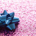 11918   Shiny blue decorative ribbon bow