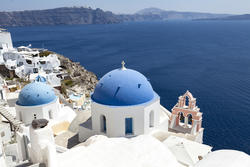 13201   blue domed church in oia