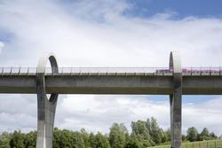 12804   can boat viaduct near Falkirk Wheel