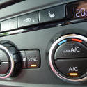 16337   Air conditioner controls on a car dashboard