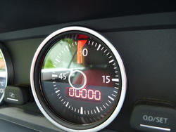 16344   Lap timer on a car dashboard