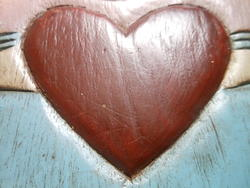 12465   carved red wooden heart