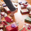 17213   Christmas day with many boxes on the floor