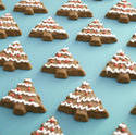 13145   Iced gingerbread Christmas tree background