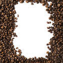 13098   Dark roasted coffee bean frame with copy space